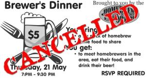 brewer dinner 150521 cancelled