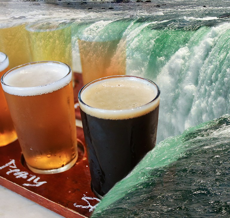 Drinking in Niagara Falls