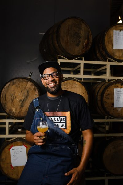Marcus Baskerville, head brewer and founder of Weathered Souls Brewing Company in San Antonio • Photo by Kevin Hobbins, @hobbinero