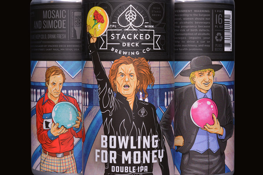Stacked Deck Bowling For Money • Photo via Stacked Deck Brewing Company