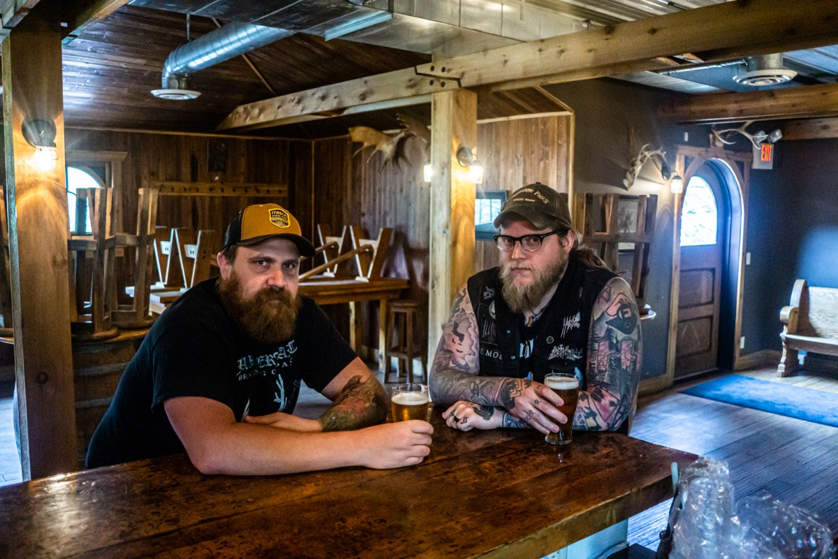 HammerHeart founders Nathaniel Chapman (left) and Austin Lunn discuss closing their Lino Lakes taproom and plans for a Norwegian farmhouse brewery in the northwoods • Photo by Jerard Fagerberg