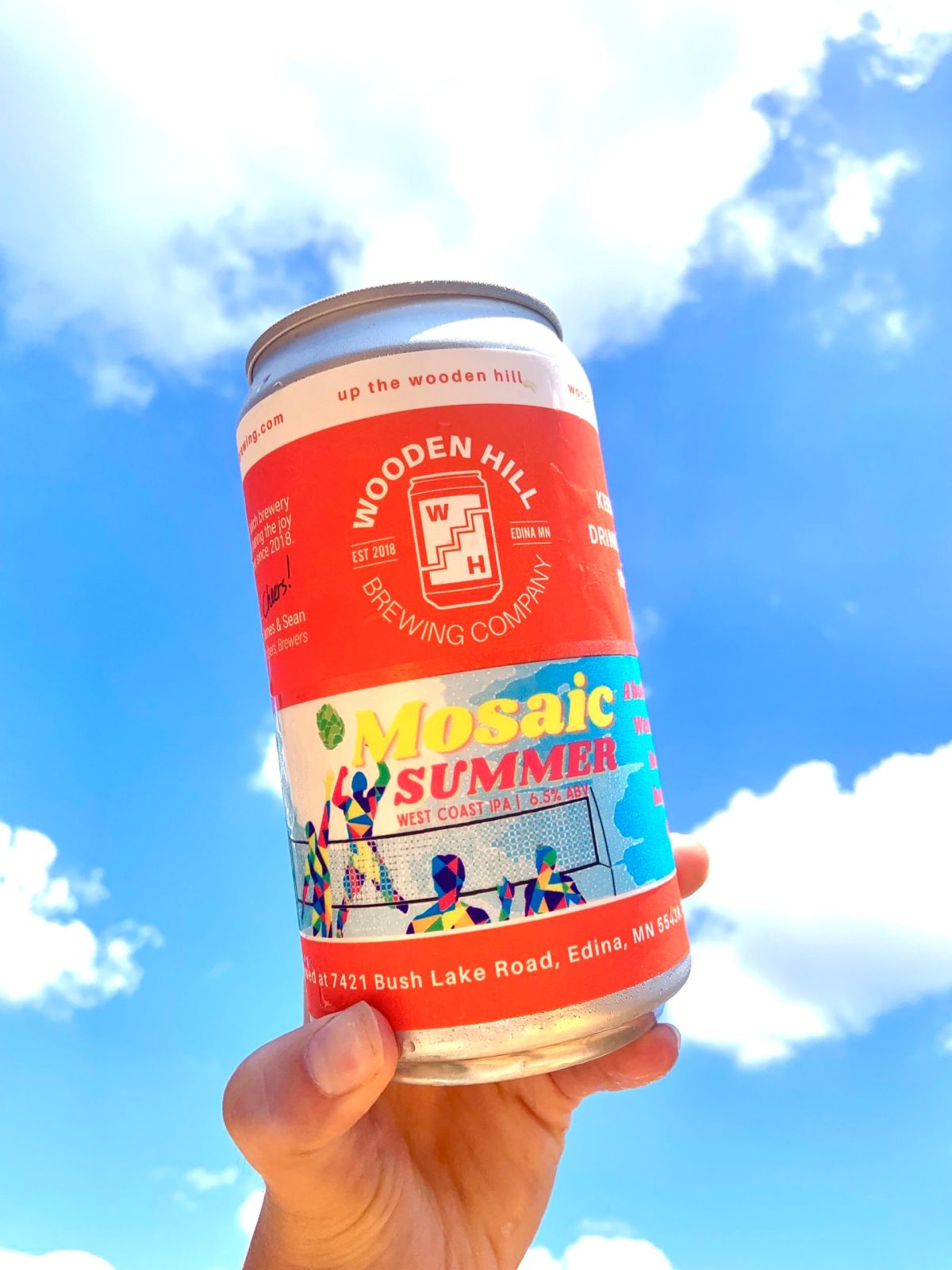 Wooden Hill Mosaic Summer • Photo via Wooden Hill Brewing Company