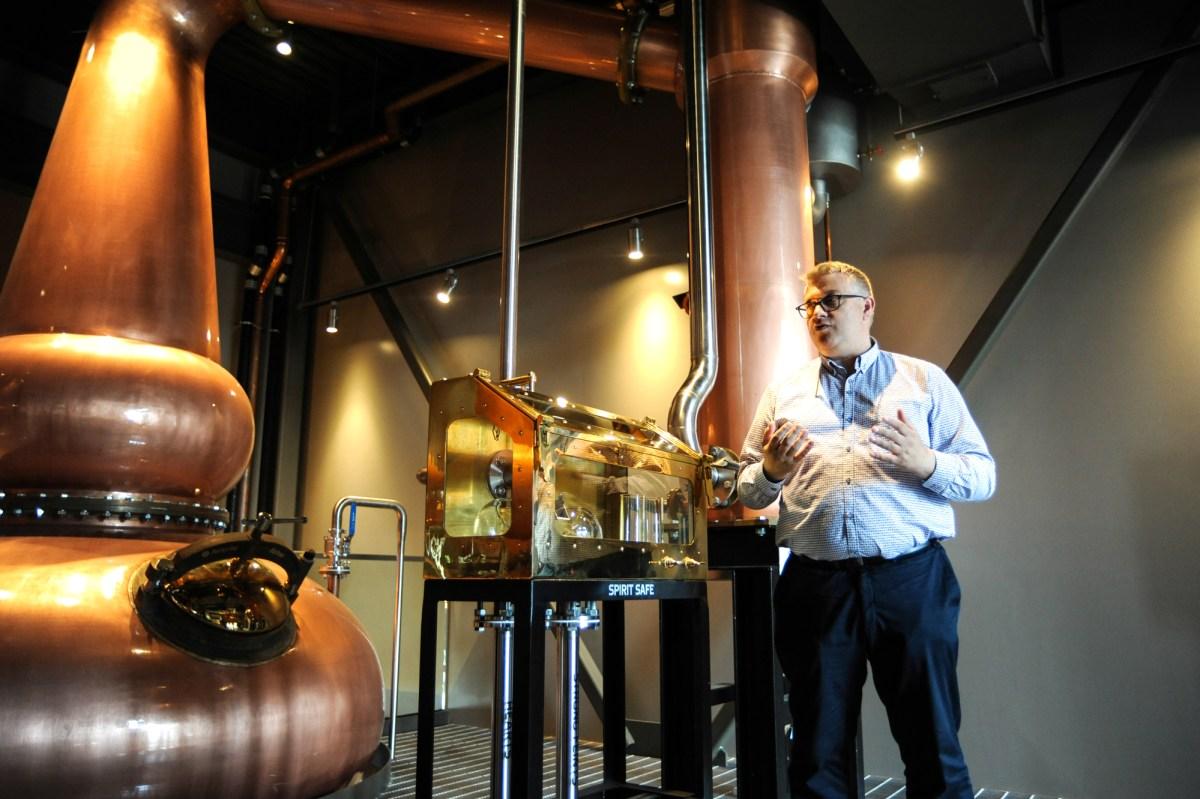 O'Shaughnessy Master Distiller Brian Nation • Photo by Dan Murphy