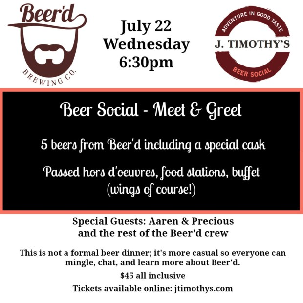 BeerdSocial at J Timothys