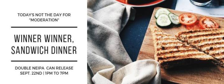 Winner Winner Chicken DInner - Double Can release 9/22/2018