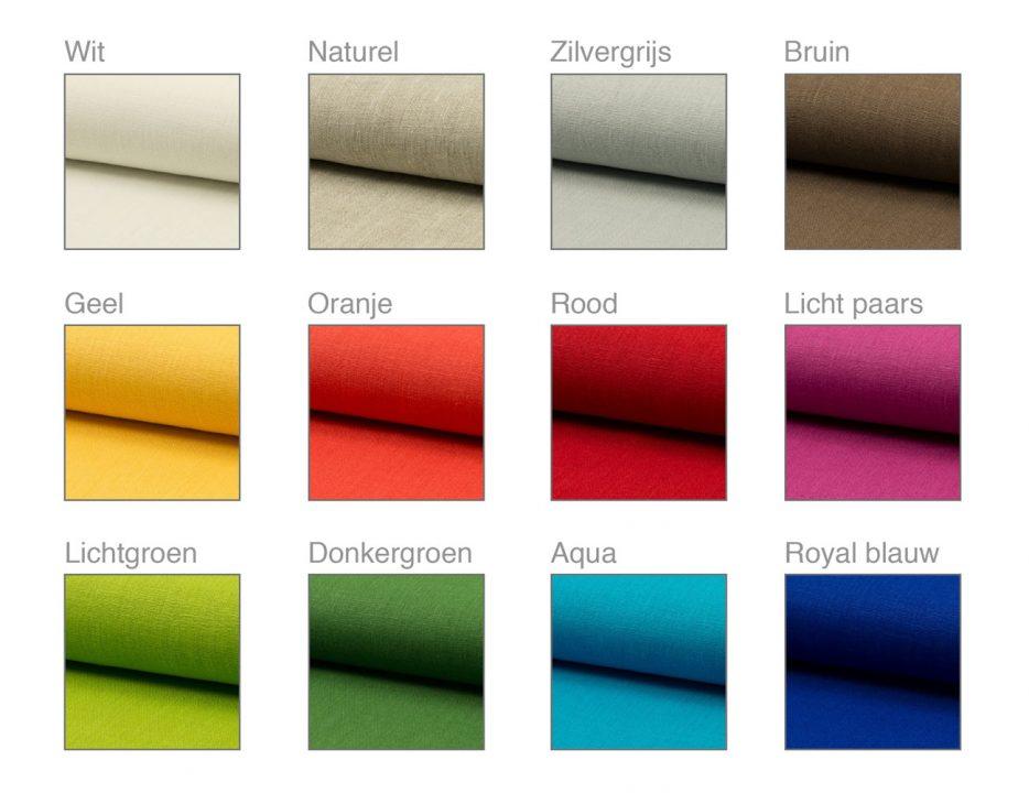 uitvaartkist doodskist binnenkleding kleuren linnen