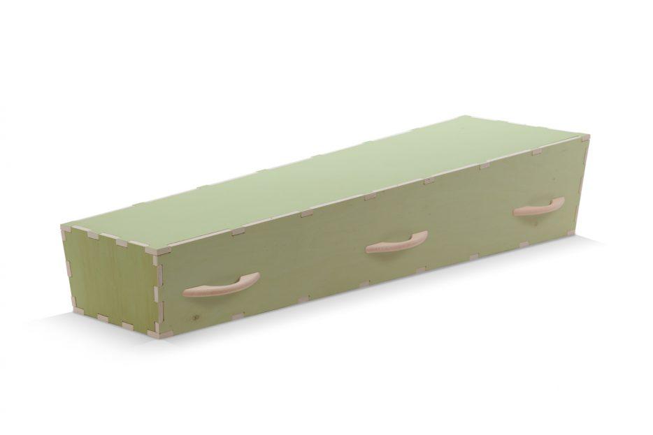 Uitvaartkist groen doe het zelf kist Beerenberg