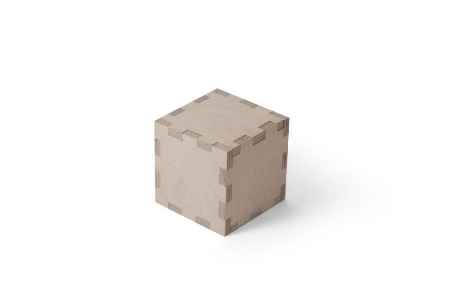 urn hout natuurlijk print persoonlijk uitvaart asbestemming print Beerenberg kubus stap 1