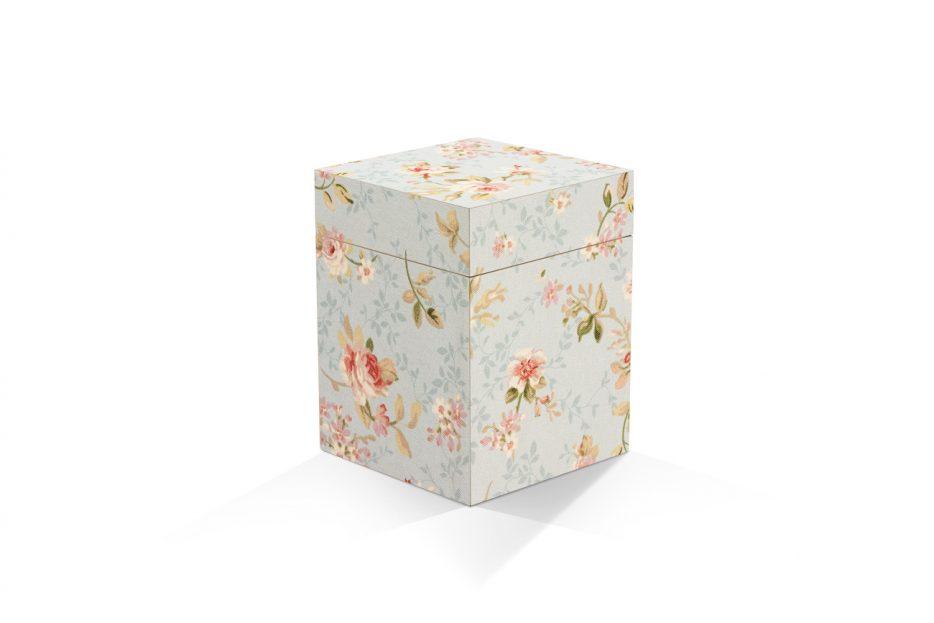 urn kistje hout rozen decoratief urn hout natuurlijk print persoonlijk uitvaart asbestemming print Beerenberg