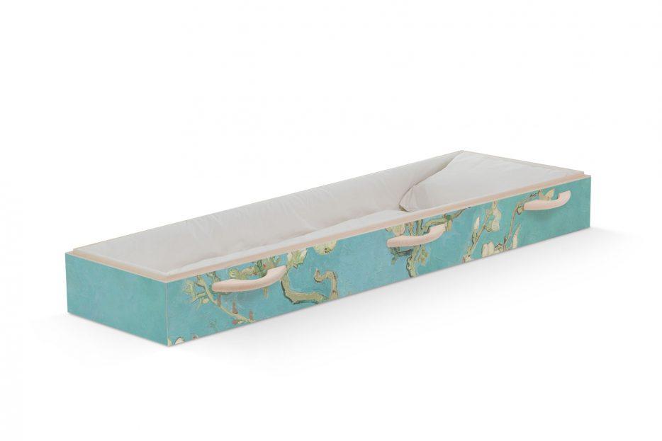 Uitvaartkist-amandelbloesem-van Gogh beerenberg, persoonlijk afscheid