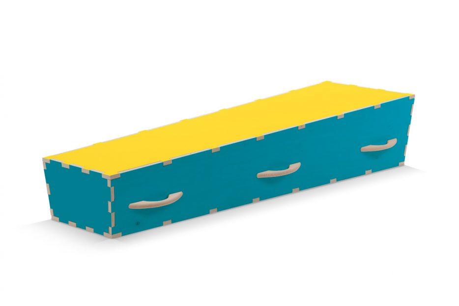 Afscheid DIY doodskist, kleur blauw, Beerenberg uitvaartkist
