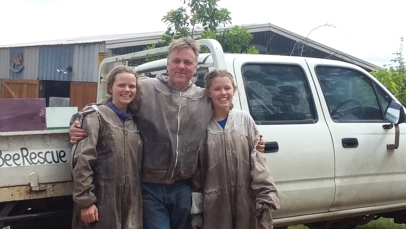 Lucy, Heidi and papa Frankie from Bee Rescue and Removal Melbourne