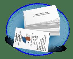 Beer Exam School flashcards, stacked set.