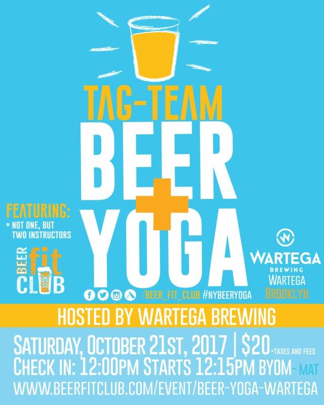 Beer+Yoga at Wartega Brewing