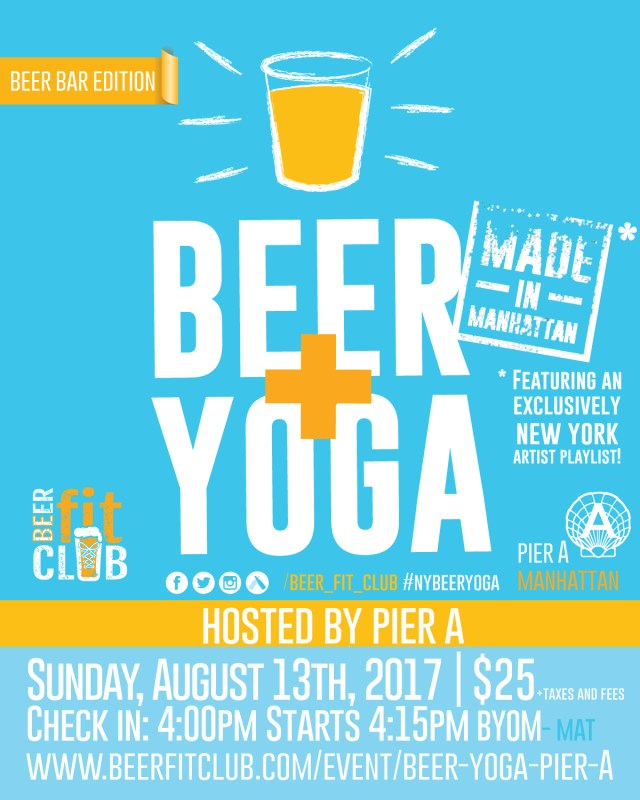 Beer + Yoga at Pier A