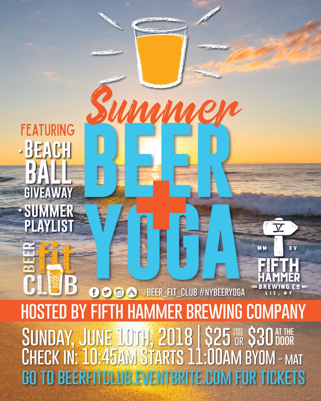 Summer Beer + Yoga - Beer Fit Club