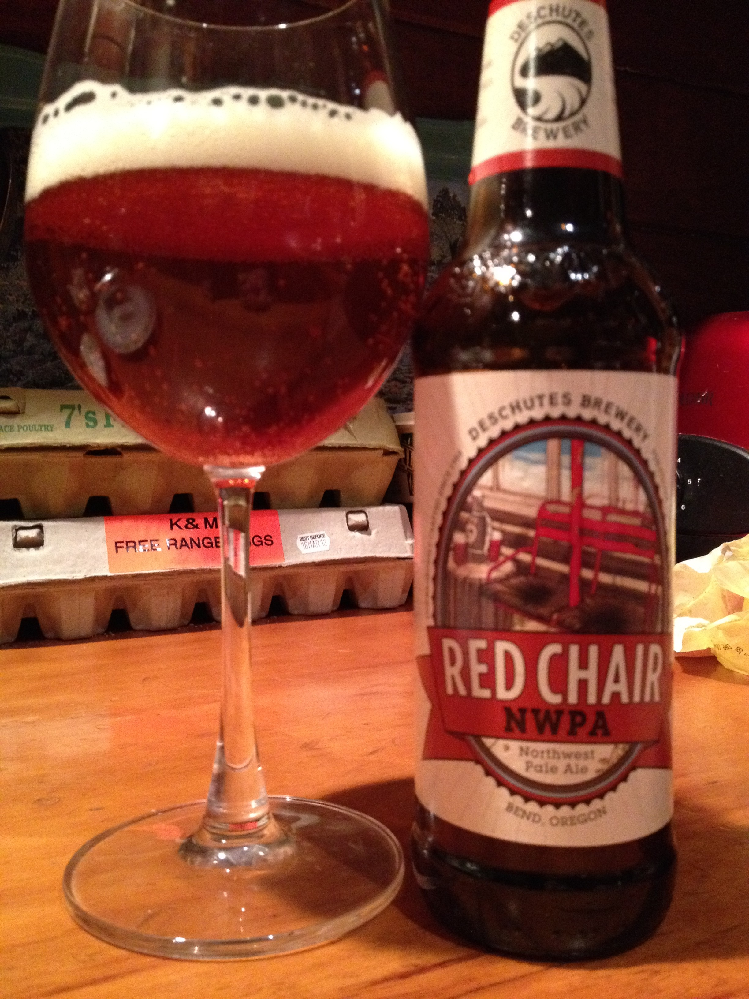red chair nwpa clone chairs for tall people pale ale beer a year 251 deschutes