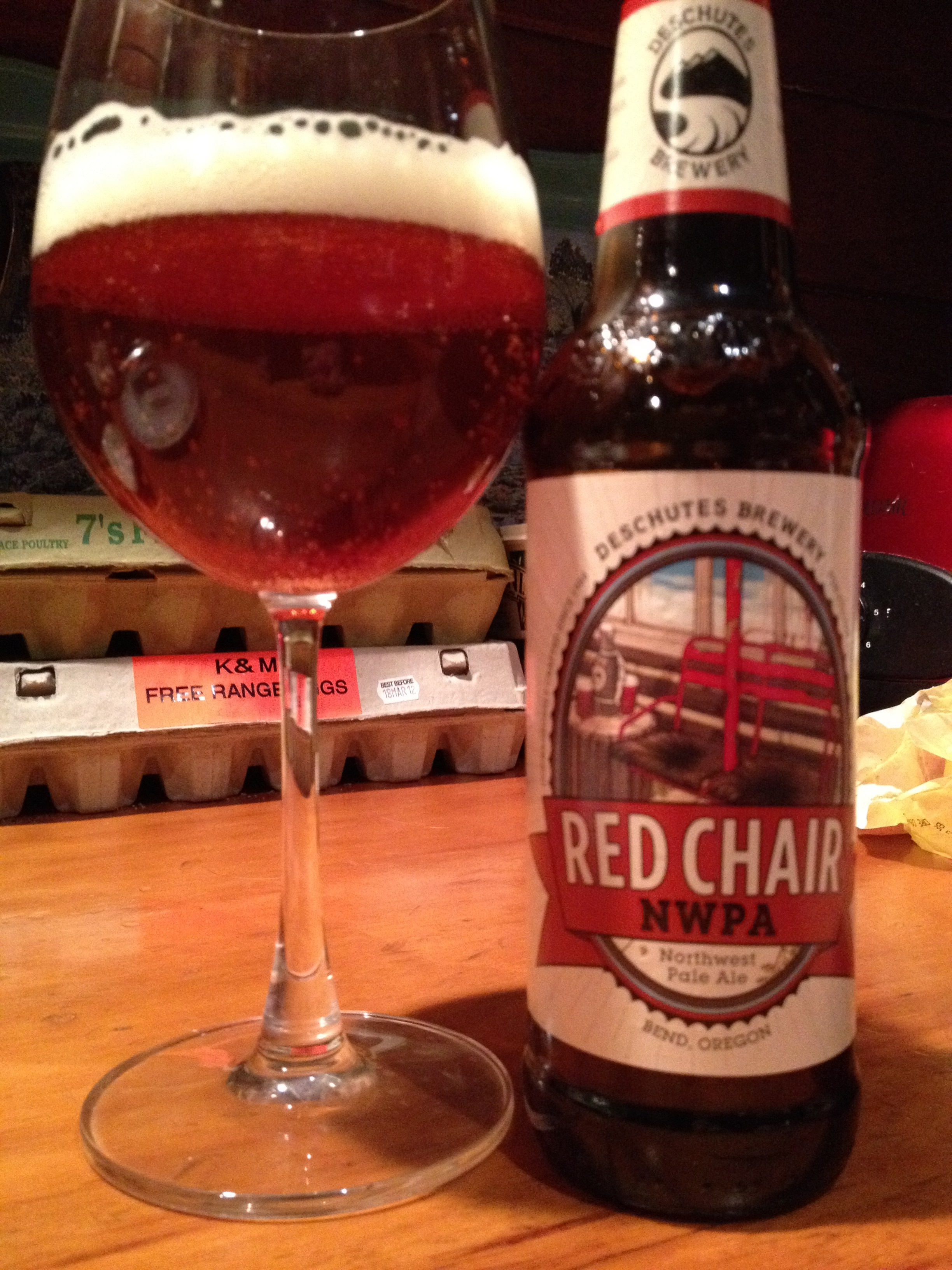 red chair nwpa abv herman miller stacking chairs pale ale beer for a year