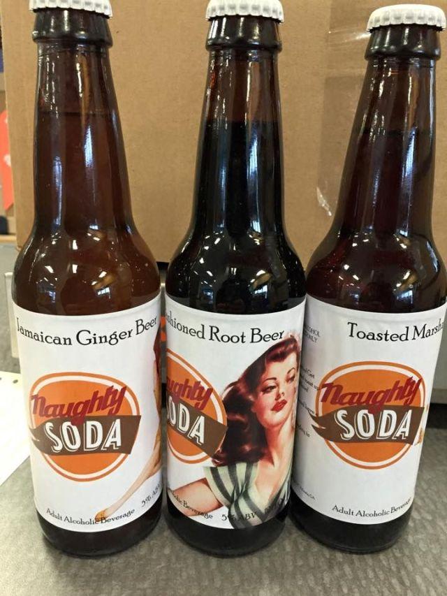 Naughty Soda bottles