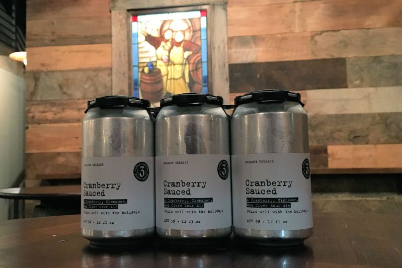 Three Taverns Cranberry Sauced cans