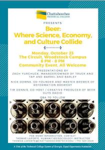 Beer: Where Science, Economy and Culture Collide @ The Circuit (Woodstock) | Woodstock | Georgia | United States
