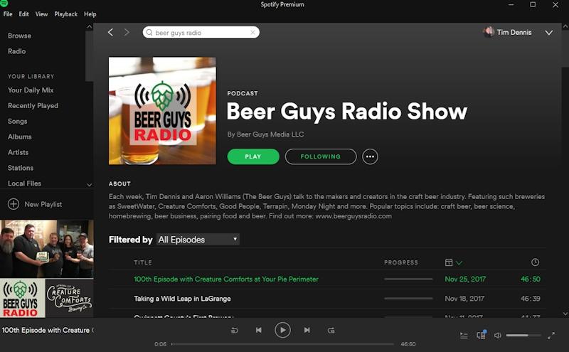 Beer Guys Radio Spotify