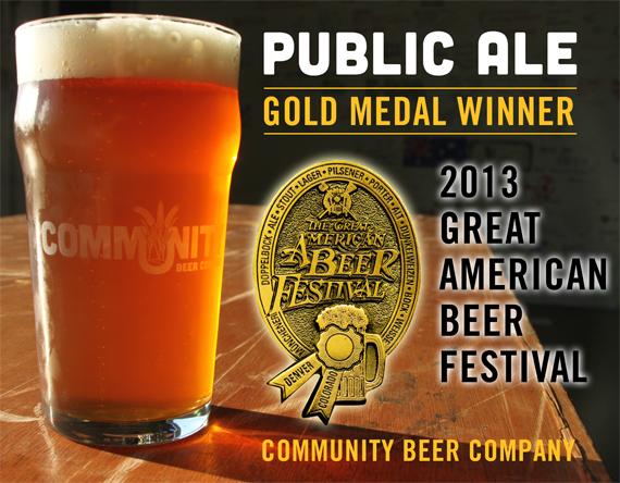 Community Public Ale GABF Gold 2013