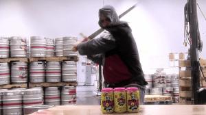 Knight Takes Swing at PakTech holder [Deep Ellum Video Screenshot]
