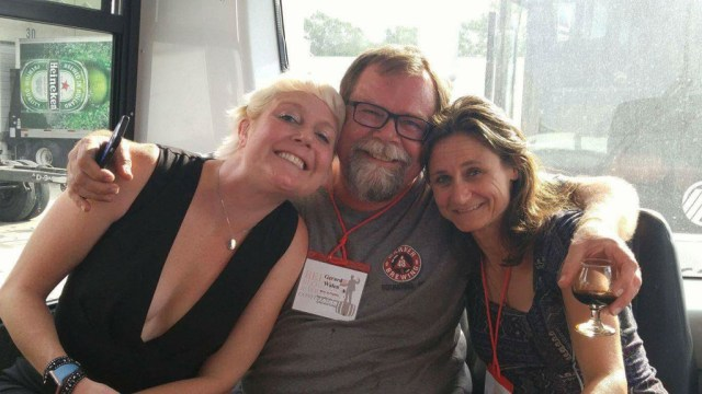 No, I am THEIR groupie. To the left is Ashley Routson. Green Flash Brewing representative, author of
