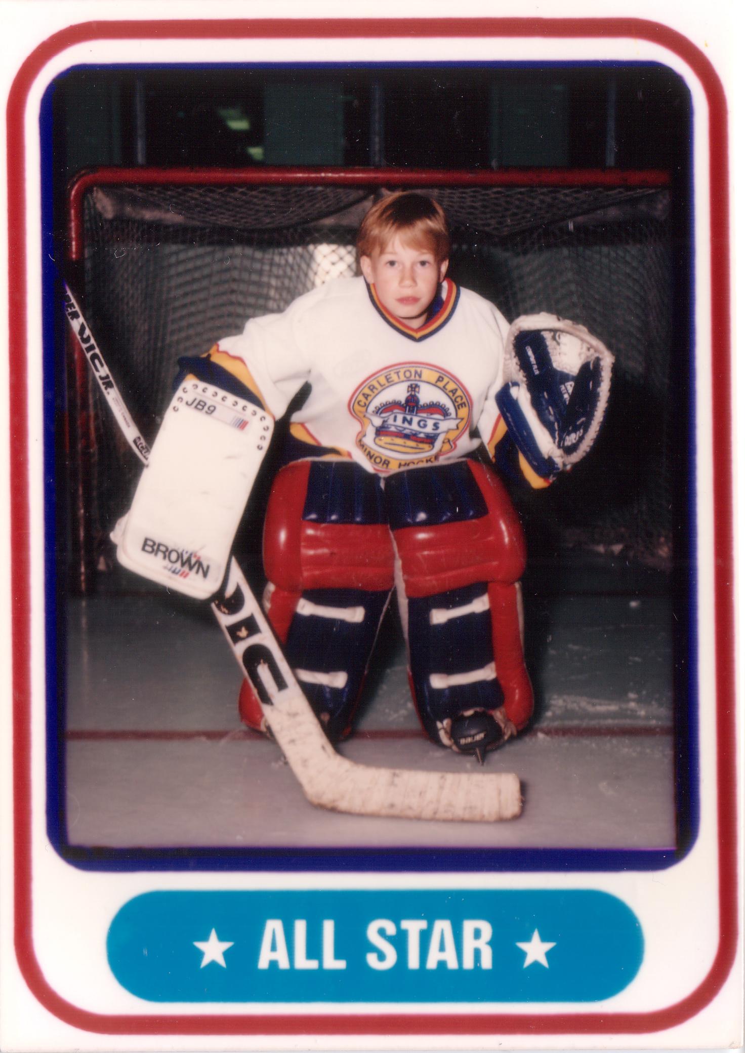Steve Cameron. Goalie, 1991-92 Carelton Place Kings