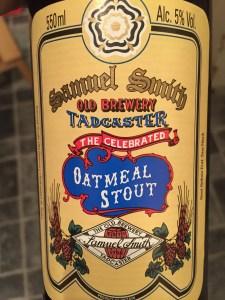 Oatmeal Stout, Samuel Smith 5% ABV