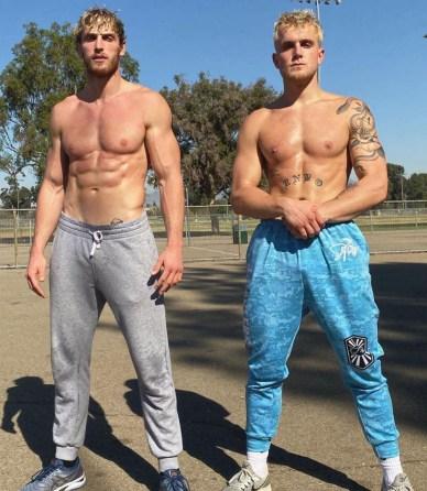 Logan Paul and Jake Paul topless