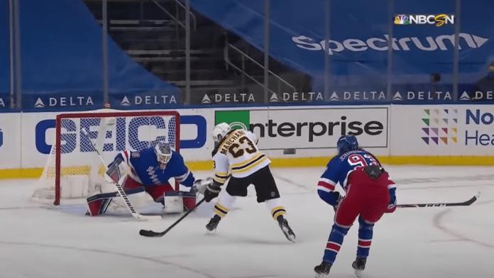 Bruins Wins 3-2 over Rangers