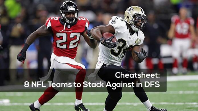 Cheatsheet- 8 NFL Teams to Stack Against in DFS