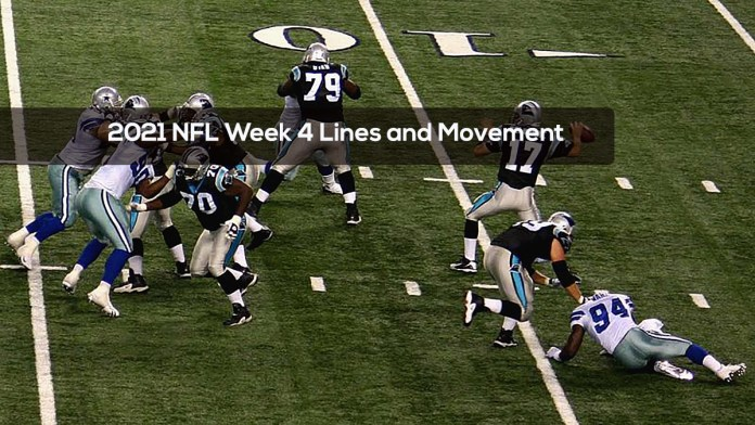 2021 NFL Week 4 Lines and Movement