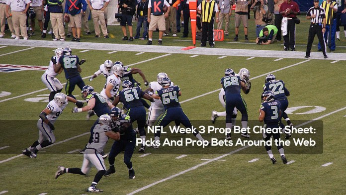 NFL Week 3 Prop Bet Cheat Sheet- Picks And Prop Bets Around the Web