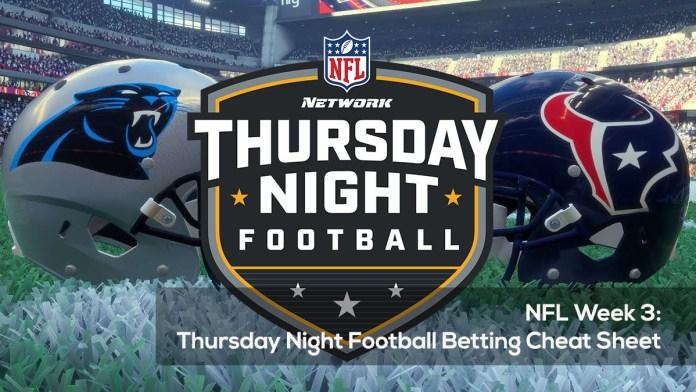 NFL Week 3- Thursday Night Football Betting Cheat Sheet