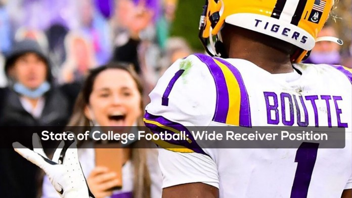 State of College Football- Wide Receiver Position