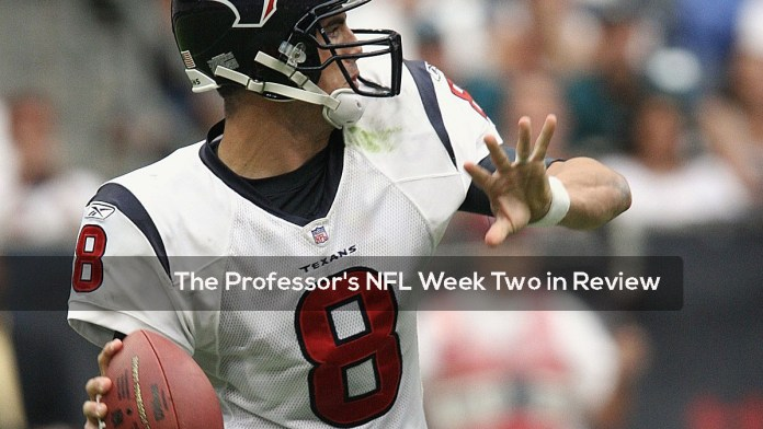 The Professor's NFL Week Two in Review