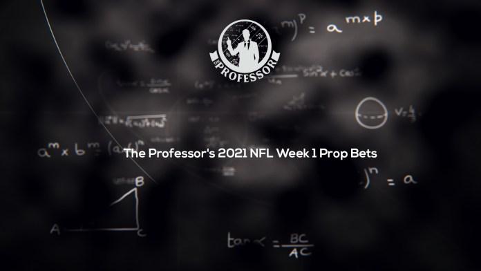The Professors Week 1 Prop Bets