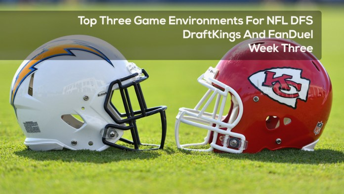 Top Three Game Environments For NFL DFS DraftKings And FanDuel Week Three