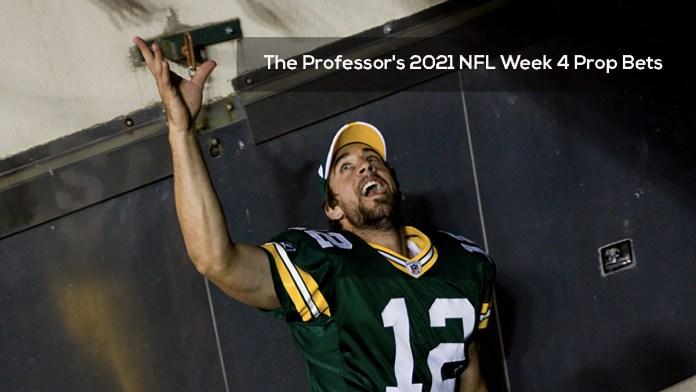 The Professor's 2021 NFL Week 4 Prop Bets