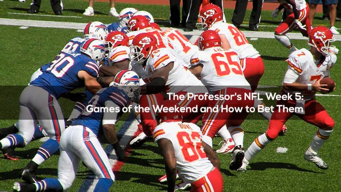 The Professor's NFL Week 5 Games of the Weekend and How to Bet Them