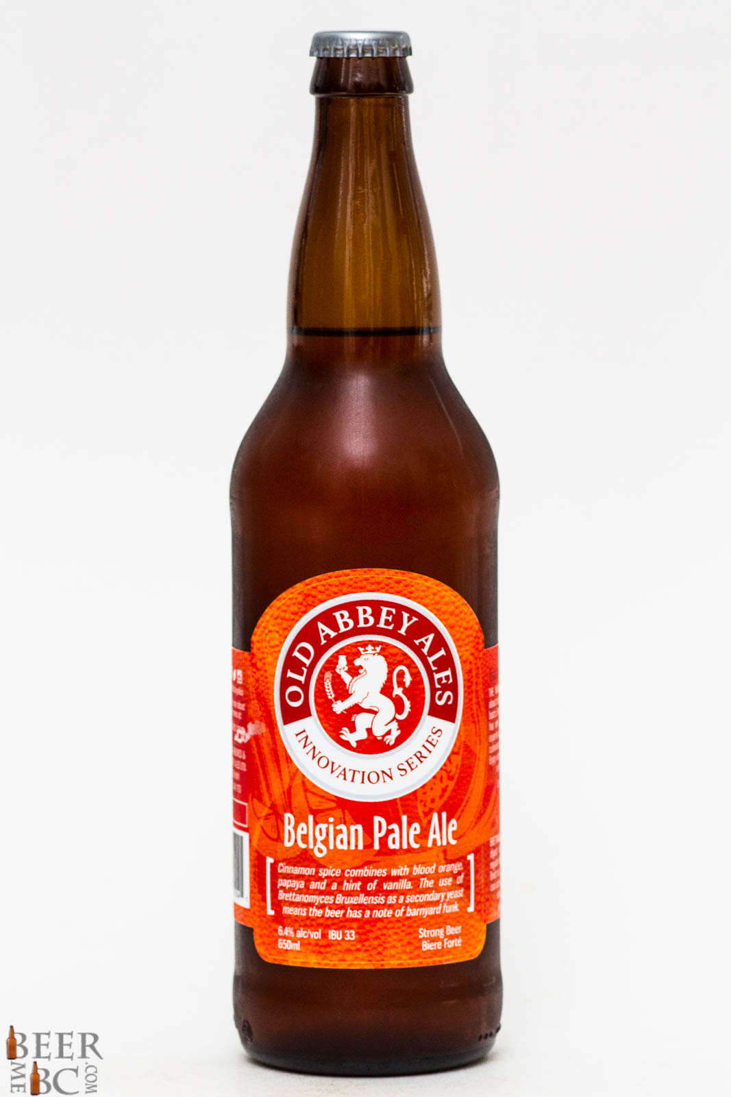 Old Abbey Ales Belgian Pale Ale Beer Me British Columbia