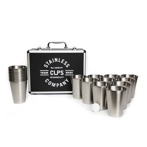 Stainless Steel Beer Pong Set