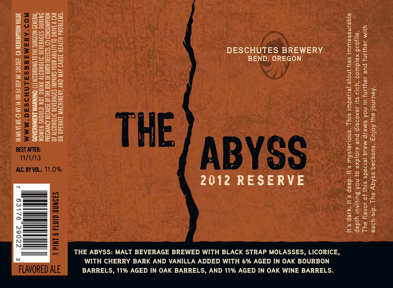 red chair nwpa abv 4 seater table and chairs deschutes update the abyss hop henge river ale 2012 label