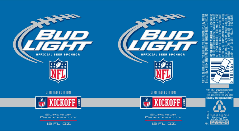 Nfl Bud Light Beer Cans
