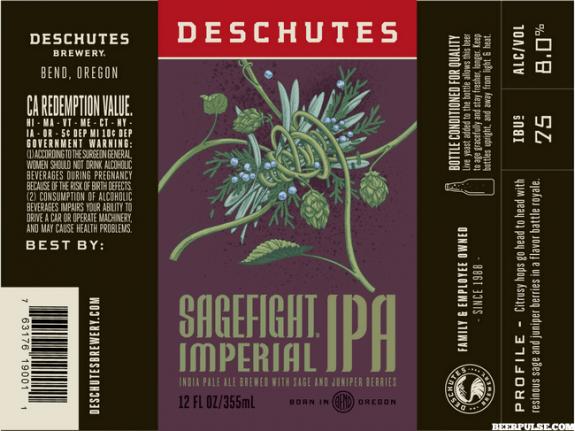 Deschutes Sagefight Imperial IPA BeerPulse 2017