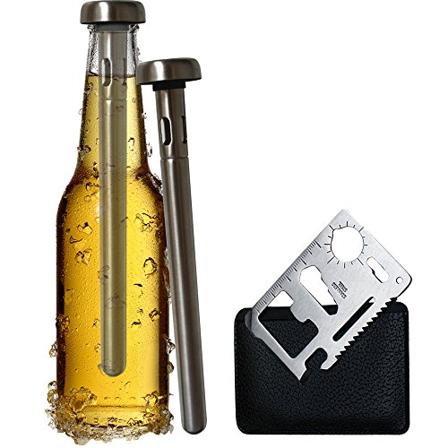 Best-Beer-Chiller-Stick-Pack-of-2-No-Ice-No-Bucket-Beer-Bottle-Opener-Accessory-Included-Single-Cooler-Stainless-Steel-Are-Your-Dad-Boyfriend-Cold-Beer-Lovers-0