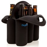 ligloo-Neoprene-6-Pack-Bottle-Carrier-Extra-Thick-Insulated-Bottle-Holder-Keeps-Drinks-Cold-Use-for-Water-Six-Pack-of-Beer-or-Milk-As-Baby-Bottle-Tote-Bag-Or-Beer-Cooler-Great-Beer-Gift-0-0